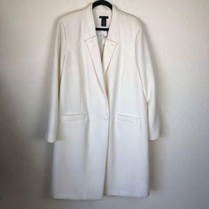 Lane Bryant cream/off white trench coat size 22/24